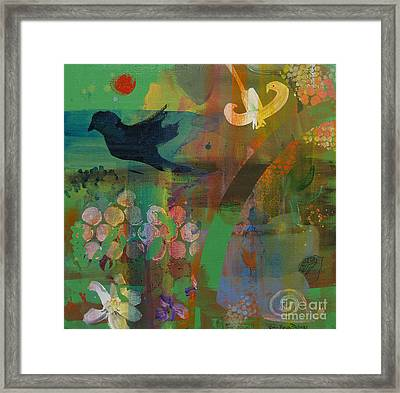 Framed Print featuring the painting Green Glory  by Robin Maria Pedrero