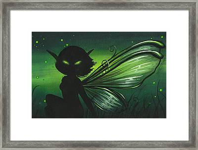 Green Glow Framed Print by Elaina  Wagner