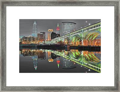 Framed Print featuring the photograph Green Glow by Frozen in Time Fine Art Photography