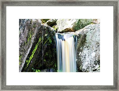 Green Glows On The Falls Framed Print
