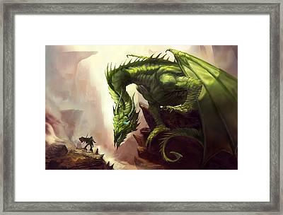 Green God Dragon Framed Print by Anthony Christou