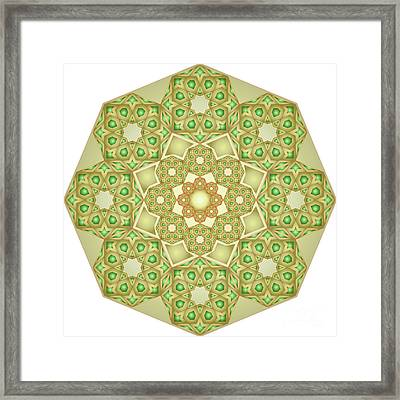 Green Gold Rosette 192  Framed Print