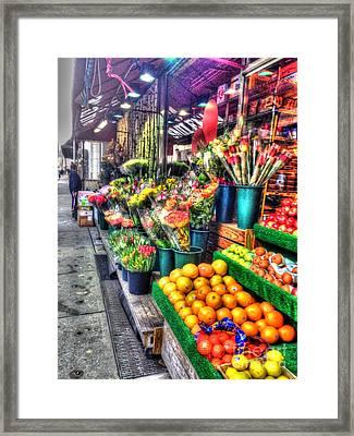Green Grocer Framed Print
