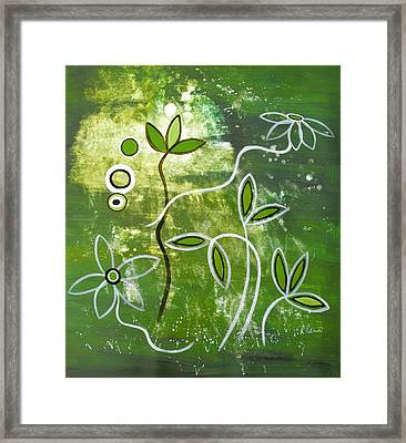 Green Growth Framed Print by Ruth Palmer