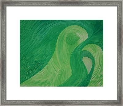 Green Harmony Framed Print by Prakash Bal Joshi