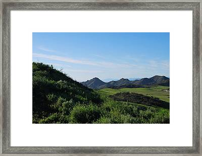 Framed Print featuring the photograph Green Hills Landscape by Matt Harang