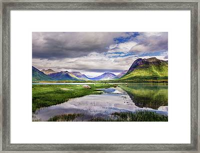 Green Hills Of Vesteralen Framed Print