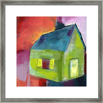Green House- Art By Linda Woods Framed Print