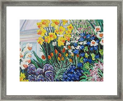 Green House Flowers Framed Print by Richard Nowak