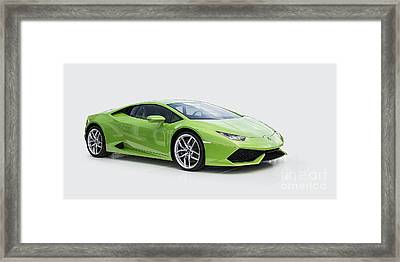 Green Huracan Framed Print