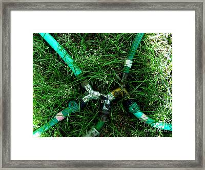 Green Intercourse Framed Print by The Stone Age