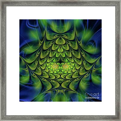 Framed Print featuring the digital art Green Island by Jutta Maria Pusl