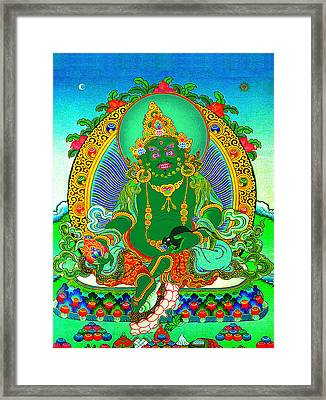 Green Jambhala  1 Framed Print by Lanjee Chee