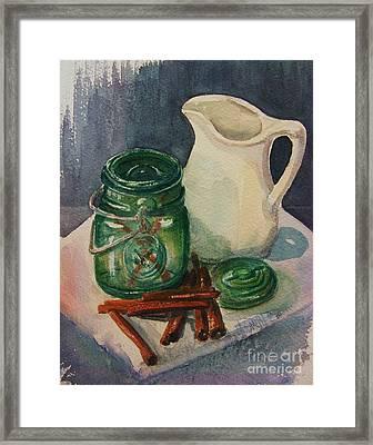 Green Jar Framed Print