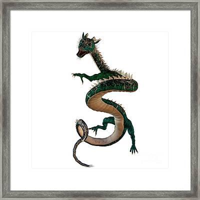 Green Jewel Dragon Framed Print by Corey Ford