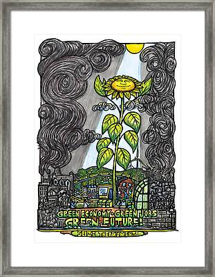 Green Jobs Framed Print