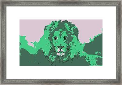 Green King Framed Print