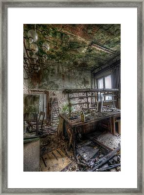 Framed Print featuring the digital art Green Lab by Nathan Wright