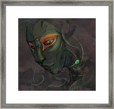 Green Lady Framed Print