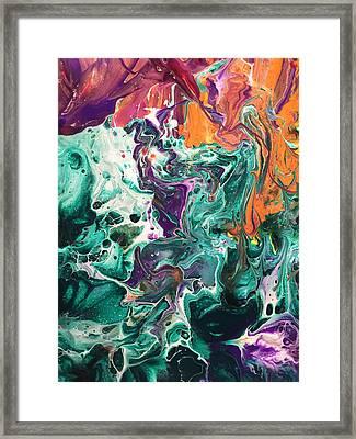 Green Lagoon Framed Print