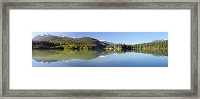 Green Lake Whistler Panorama Framed Print by Pierre Leclerc Photography