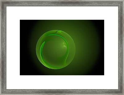 Green Lantern  Framed Print by Doug Morgan