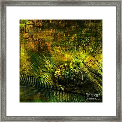 Green Lantern Framed Print by Monroe Snook