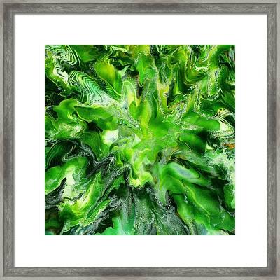 Green Leaf Framed Print by Paul Tokarski