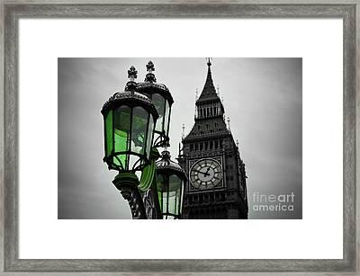 Green Light For Big Ben Framed Print by Donald Davis