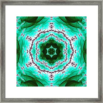 Green Lightning Framed Print by Derek Gedney