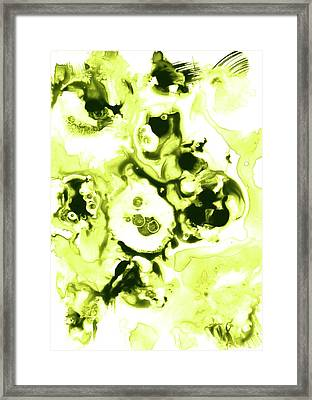 Green Lime Fantasy Framed Print