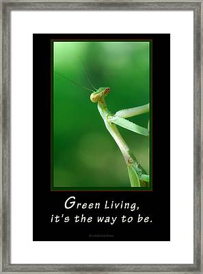Green Living Framed Print