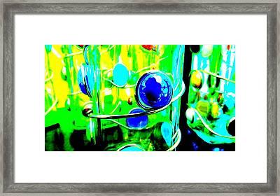 Green Framed Print by Louis Meyer