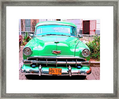 Green Machine Framed Print by Dominic Piperata