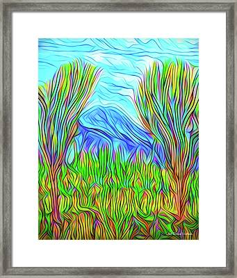 Green Meadow Day Framed Print