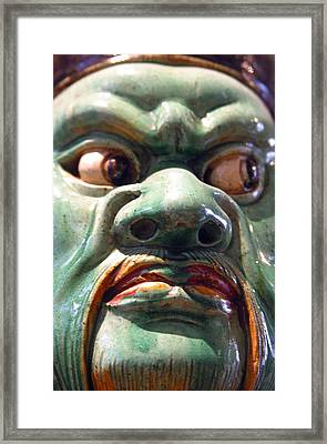 Green Meanie Framed Print by Jez C Self