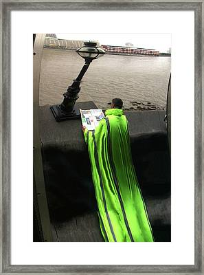 Green Mile Man Framed Print by Jez C Self