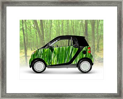 Green Mini Car Framed Print by Oleksiy Maksymenko