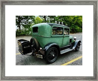 Green Model A Framed Print