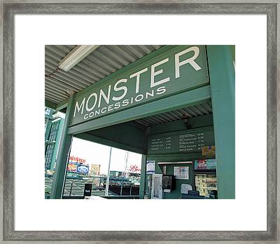 Green Monster Concession Stand Framed Print