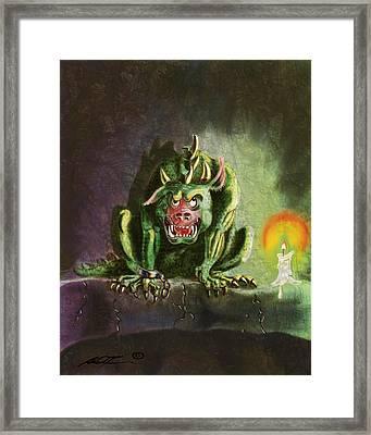 Green Monster Framed Print