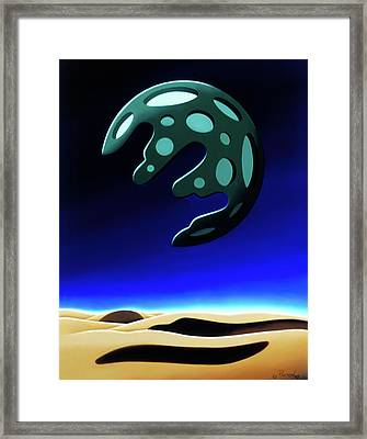 Green Moon Rising Framed Print