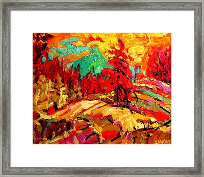 Green Mountain Framed Print by Brian Simons