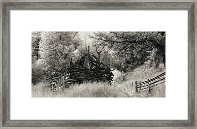 Green Mountain Cabin Framed Print by Bill Kellett