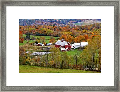 Green Mountain Farm Framed Print by Butch Lombardi