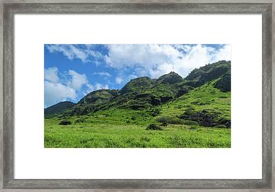 Green Mountain Framed Print by Jera Sky
