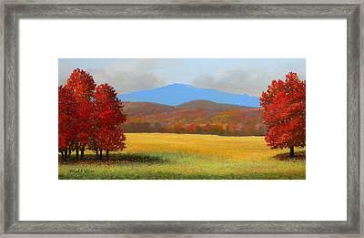 Green Mountain Landscape Framed Print by Frank Wilson