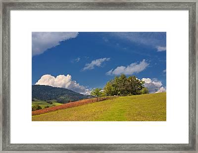 Framed Print featuring the photograph Green Mountain Pasture by Ken Barrett