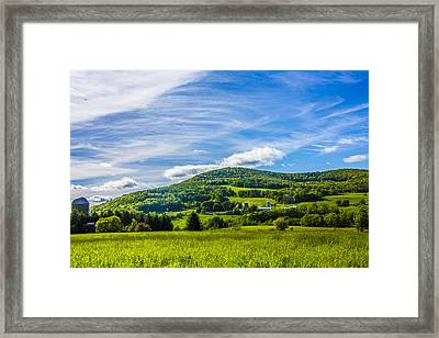 Framed Print featuring the photograph Green Mountains And Blue Skies Of The Catskills by Paula Porterfield-Izzo