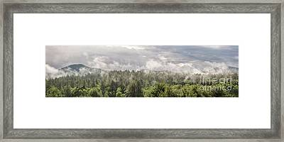 Green Mountains Fog Panoramic Framed Print